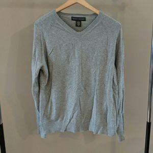 Banana Republic Gray Cotton Sweater